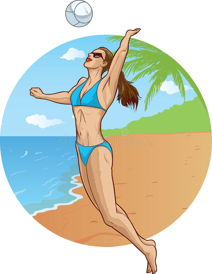 Download Volleyball player stock vector. Image of female, model - 24703109