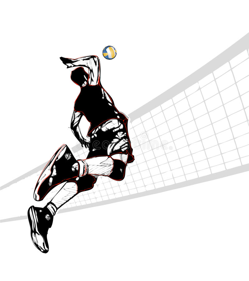 Download Volleyball Player Stock Vector Illustration Of Smash