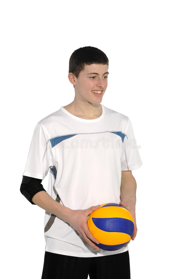 Download Volleyball Player With The Ball Stock Photo - Image: 18776084
