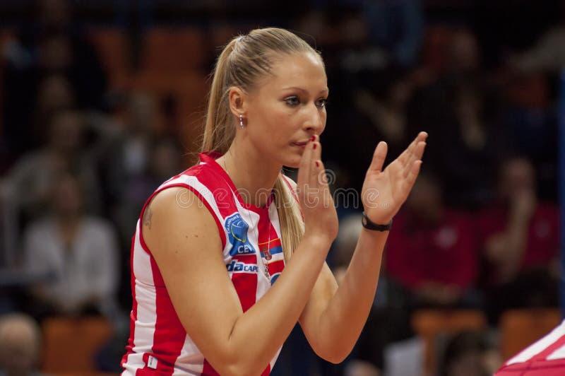 Volleyball player Bojana Radulovic stock photo