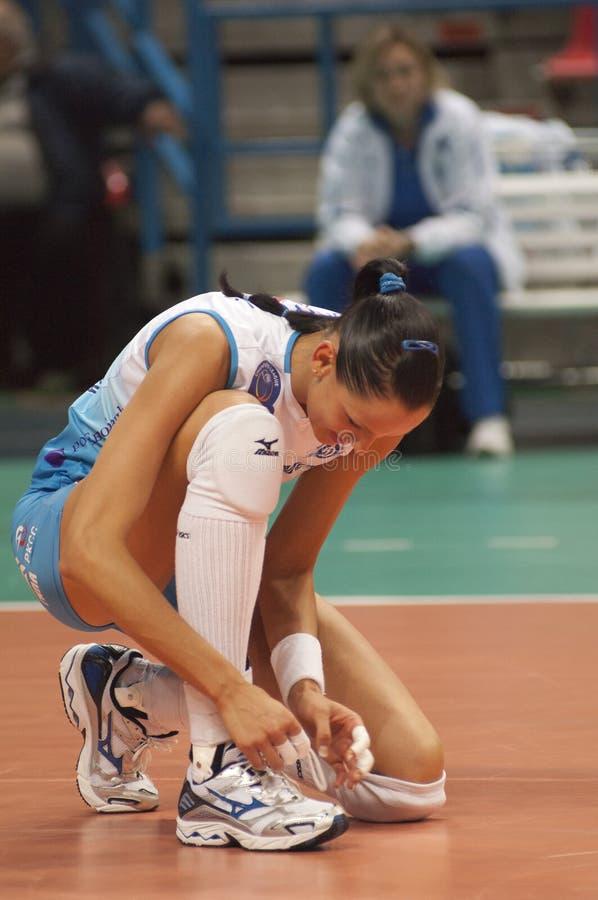 Volleyball player Nataliya Goncharova royalty free stock photos
