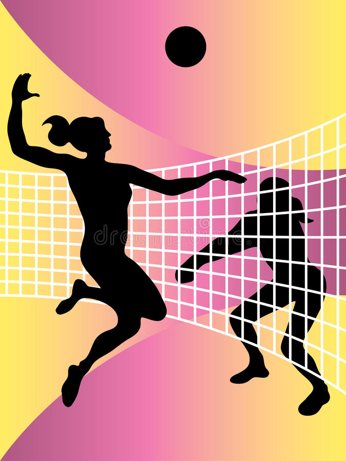 Volleyball Players Stock Images