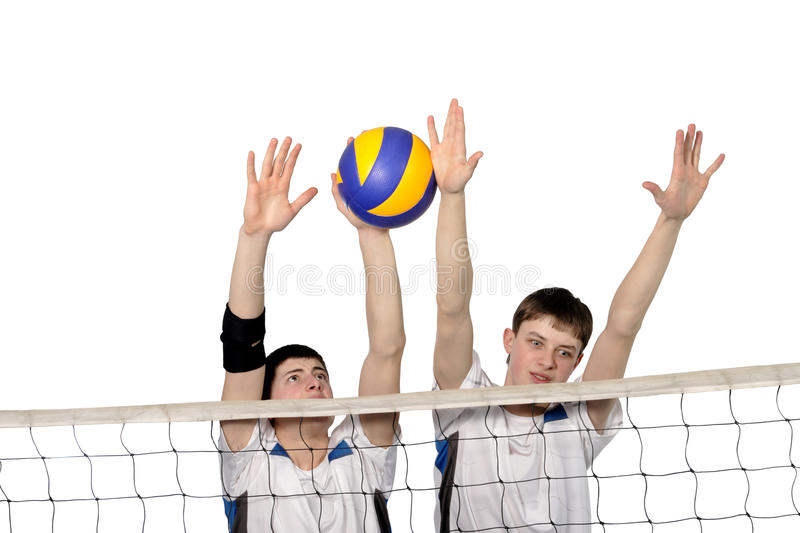 Download Volleyball Players With The Ball Stock Image - Image of pass, game: 18776089
