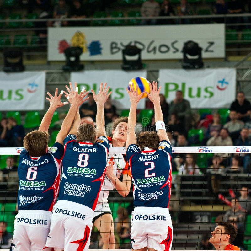 Volleyball Polish cup finals stock photos
