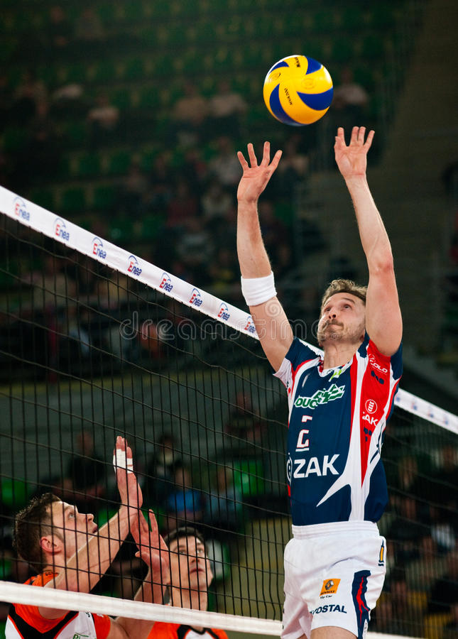 Volleyball Polish cup finals royalty free stock image