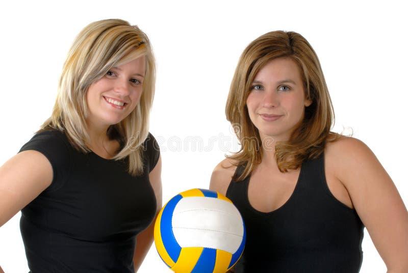 Volleyball-Spieler stockfotos