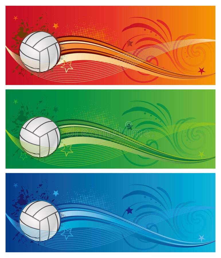 Download Volleyball Sport Background Stock Vector - Image: 15754127