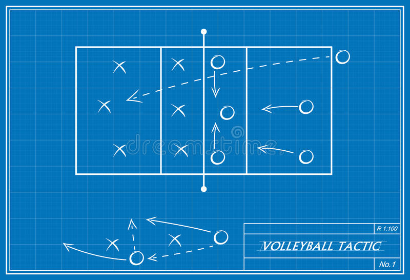 Volleyball tactic on blueprint stock image image of indoors sport download volleyball tactic on blueprint stock image image of indoors sport 44943709 malvernweather Image collections