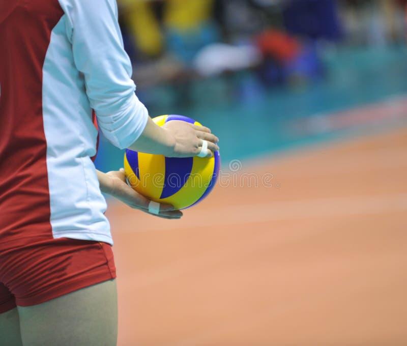 Volleyball ter beschikking royalty-vrije stock afbeeldingen