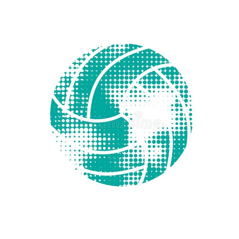 Volleyball tramé bleu illustration stock