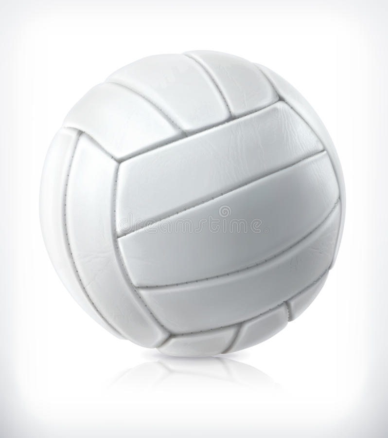 Volleyball vector icon. Volleyball, vector icon, isolated on white background vector illustration
