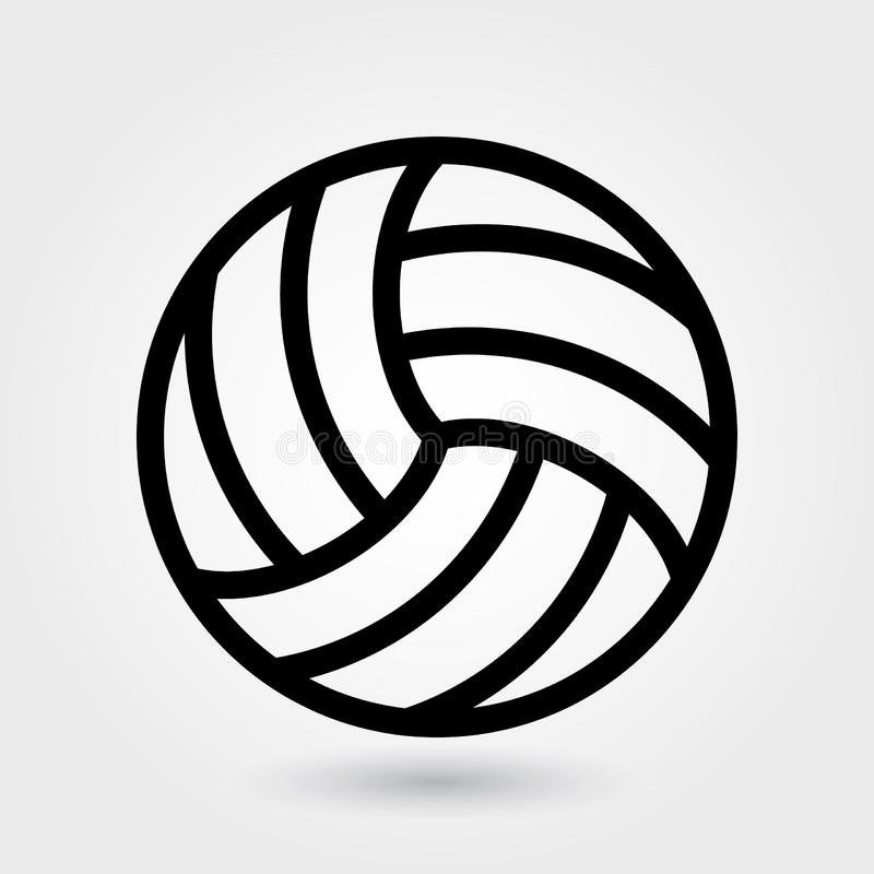 Volleyball vectorpictogram, het pictogram van Salvosporten, het symbool van de Sportenbal Het moderne, eenvoudige overzicht, sche stock illustratie