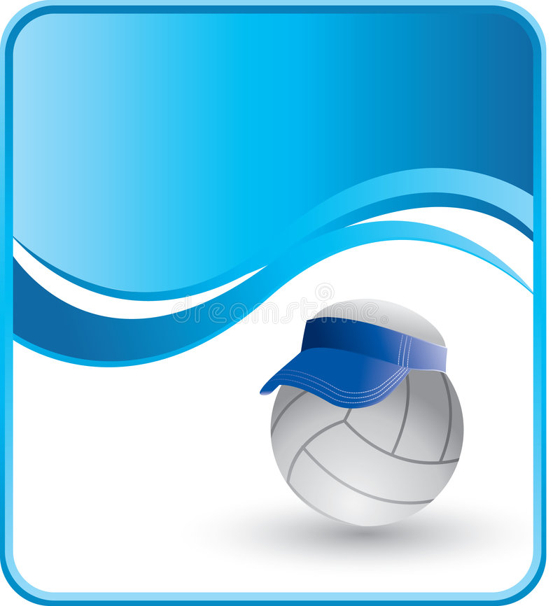 Download Volleyball with visor stock vector. Image of score, illustration - 8993598