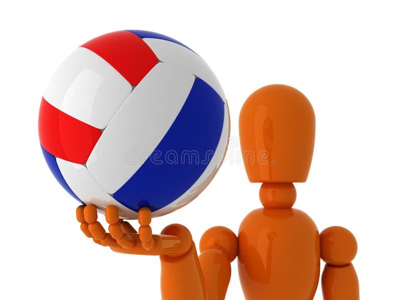 Volleyball voor u. royalty-vrije stock foto's
