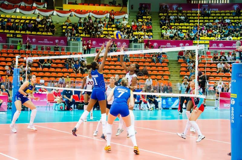 Volleyball-Welt Grandprix 2014 lizenzfreie stockbilder