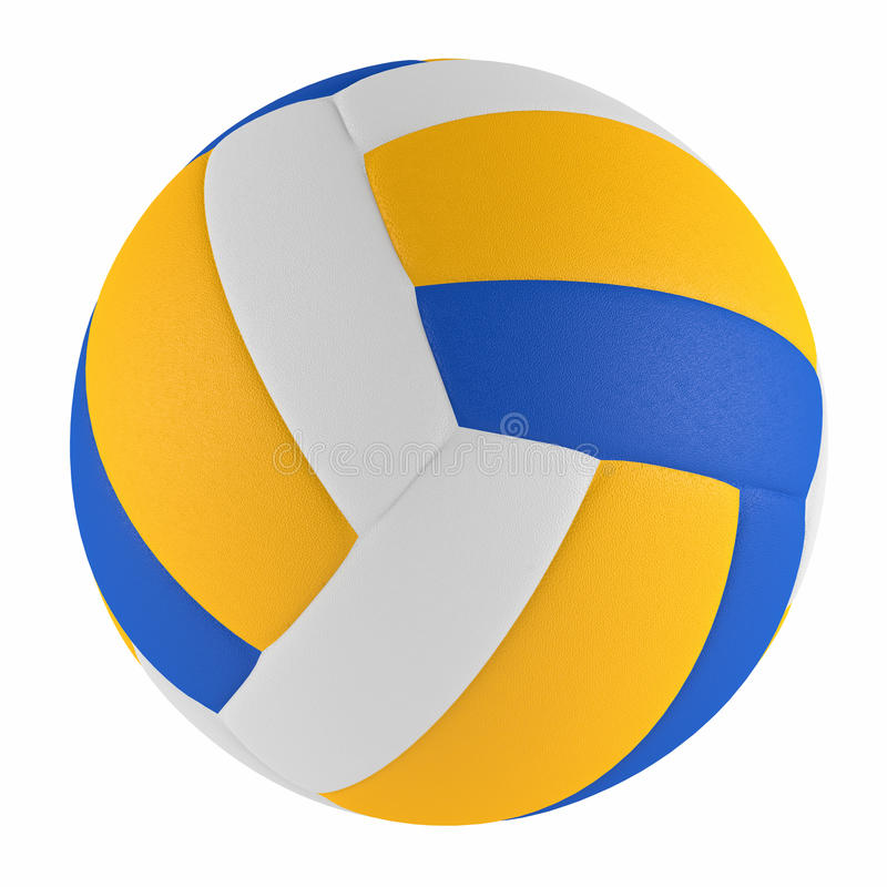 Volleyballball lokalisiert stockbilder