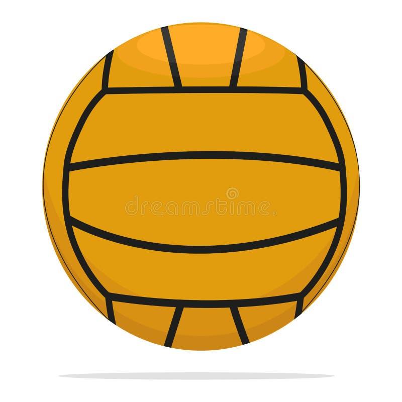 Volleyballball-Vektorikone Spielballkonzeptillustration Realistischer Artentwurf des orange Balls, bestimmt für Netz und lizenzfreie abbildung