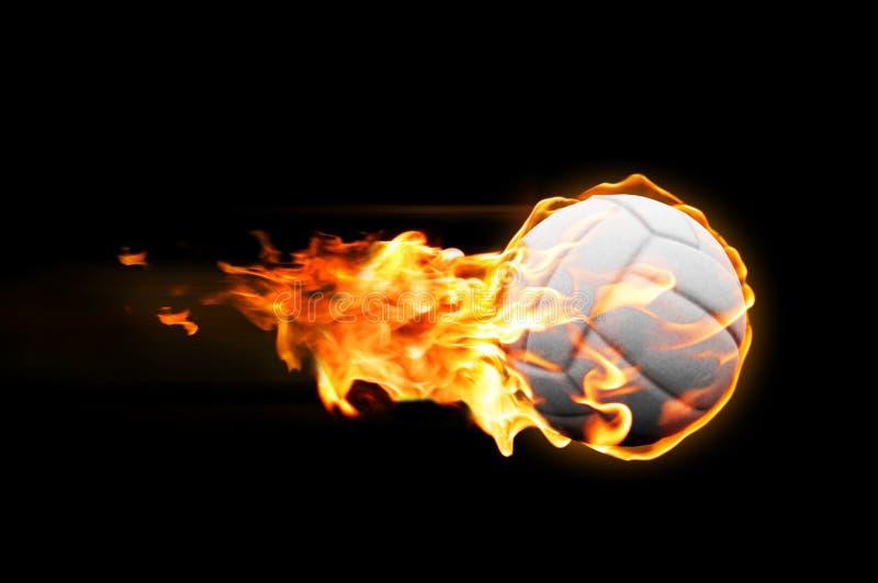 Volleyballflammen lizenzfreie stockbilder