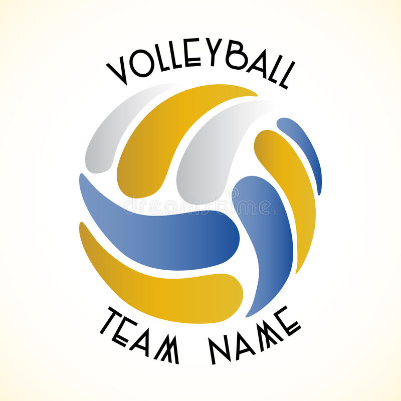 Volleyballikone stockfoto