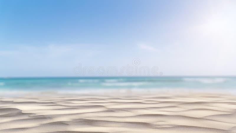 Volleyballkugel auf leerem schönem Strand lizenzfreie stockfotos