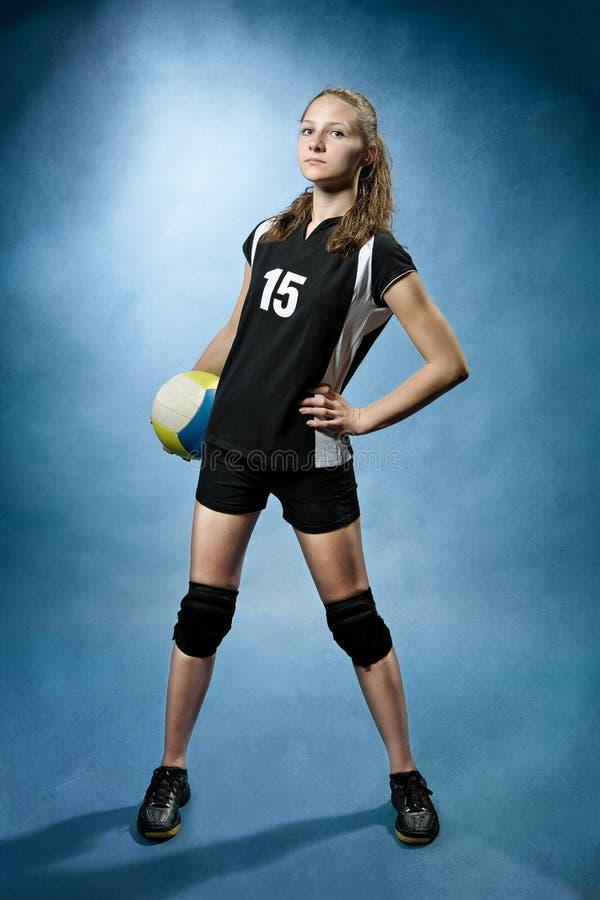 Volleyballmädchen stockbilder