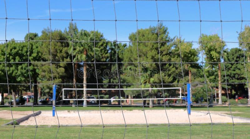 Volleyballnetten stock fotografie