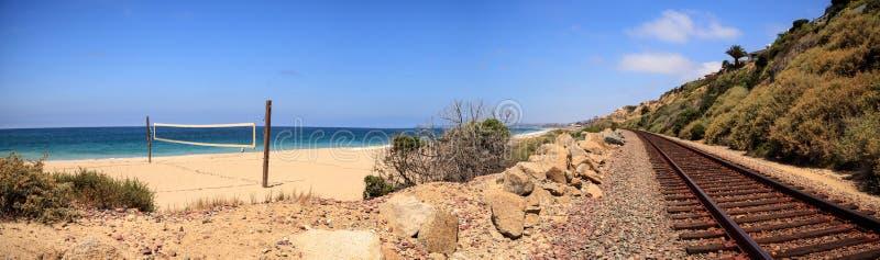 Volleyballnetz auf dem Sand bei San Clemente State Beach lizenzfreie stockbilder