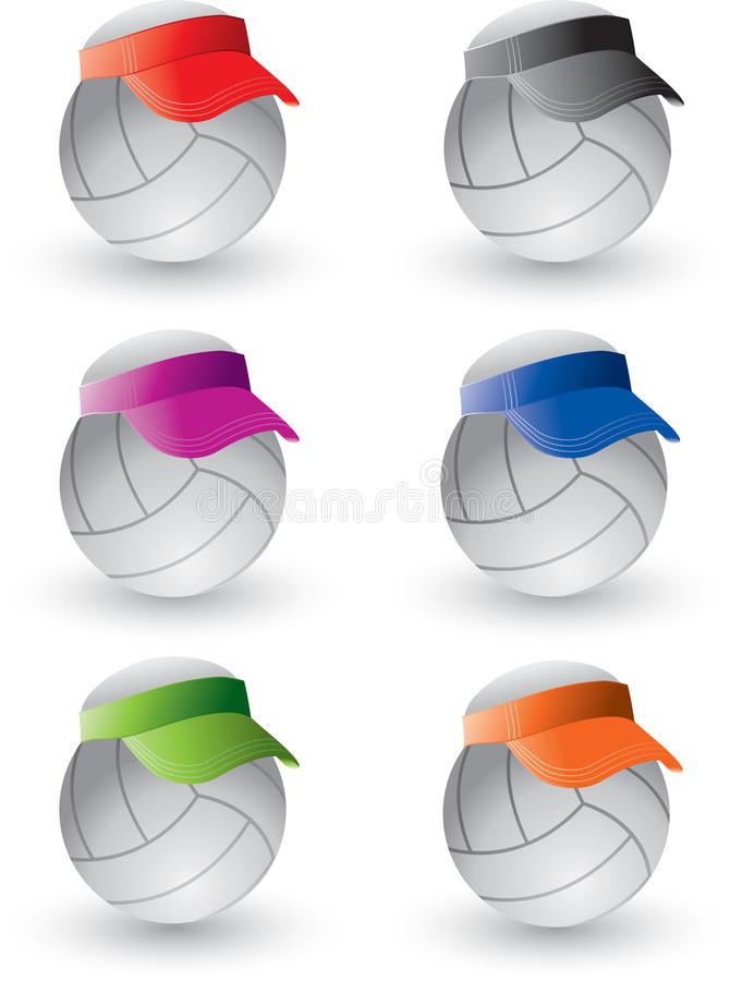 Download Volleyballs with visors stock vector. Image of circle - 9699452