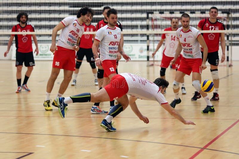 Volleyballspel stock foto