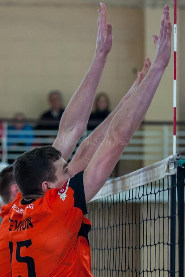 Volleyballspel stock afbeelding