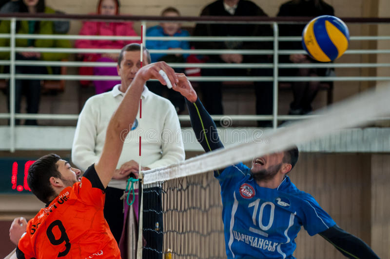 Volleyballspel royalty-vrije stock afbeelding