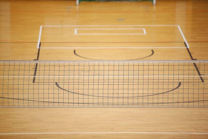 Volleyballspielboden stockbild