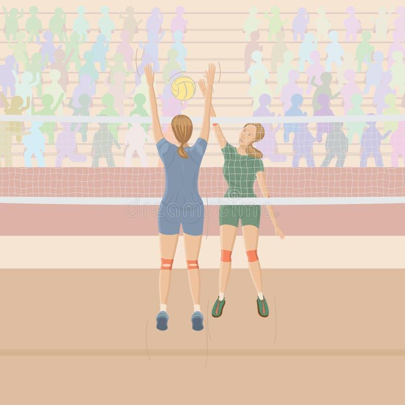 Volleyballspieler stock abbildung