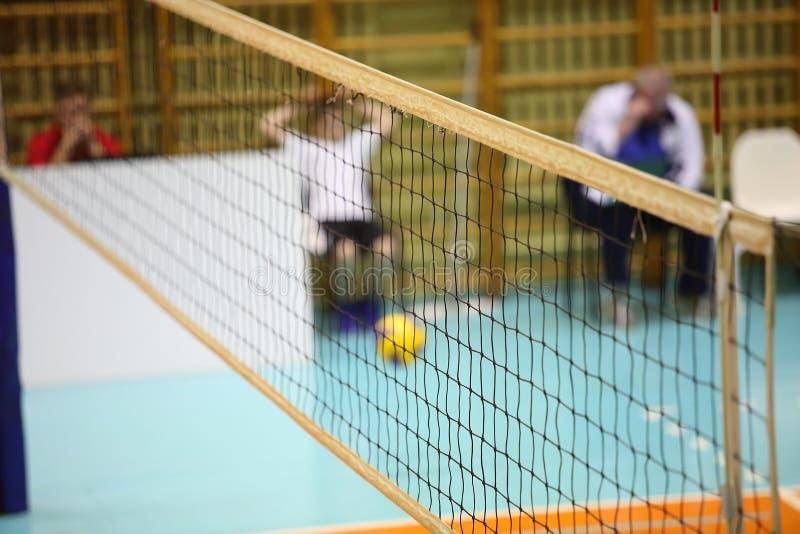 Download Volleyballspieler Und Volleyballnetz Stockfoto - Bild von volleyball, aktiv: 62213170