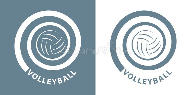 Volleyballspirale stockfoto