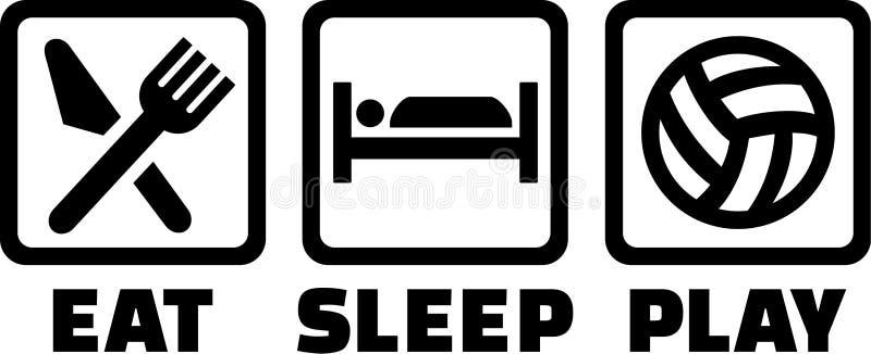 Volleyboll äter sömnlek stock illustrationer
