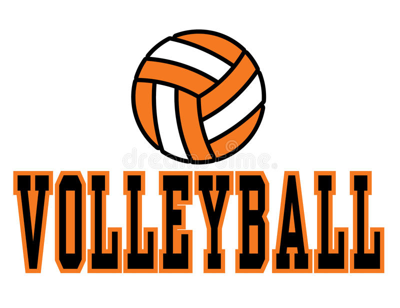 volleyboll vektor illustrationer