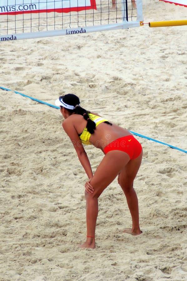 Volleyboll 2015 för strand för turnering för MoskvakörtelSlam arkivfoto