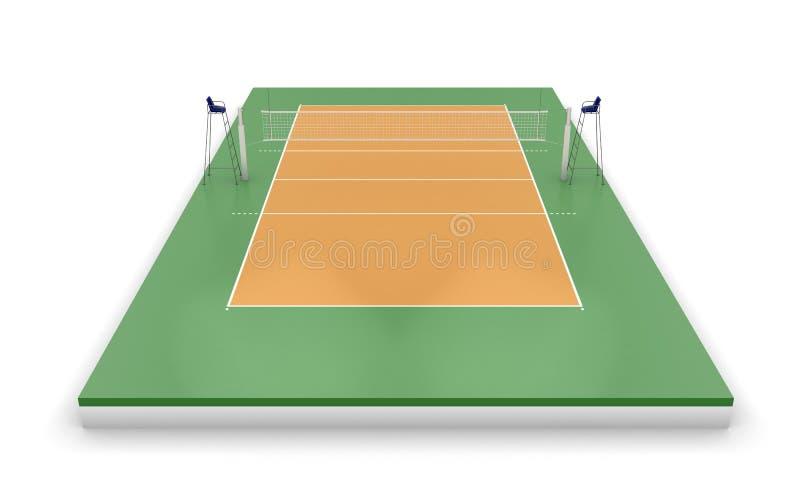Volleybolldomstol eller fält vektor illustrationer