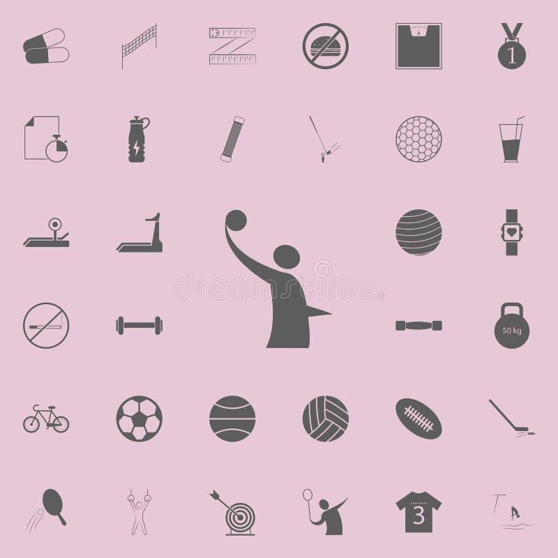 volleybolllogosymbol Detaljerad uppsättning av sportsymboler Högvärdigt kvalitets- tecken för grafisk design En av samlingssymbol royaltyfri illustrationer