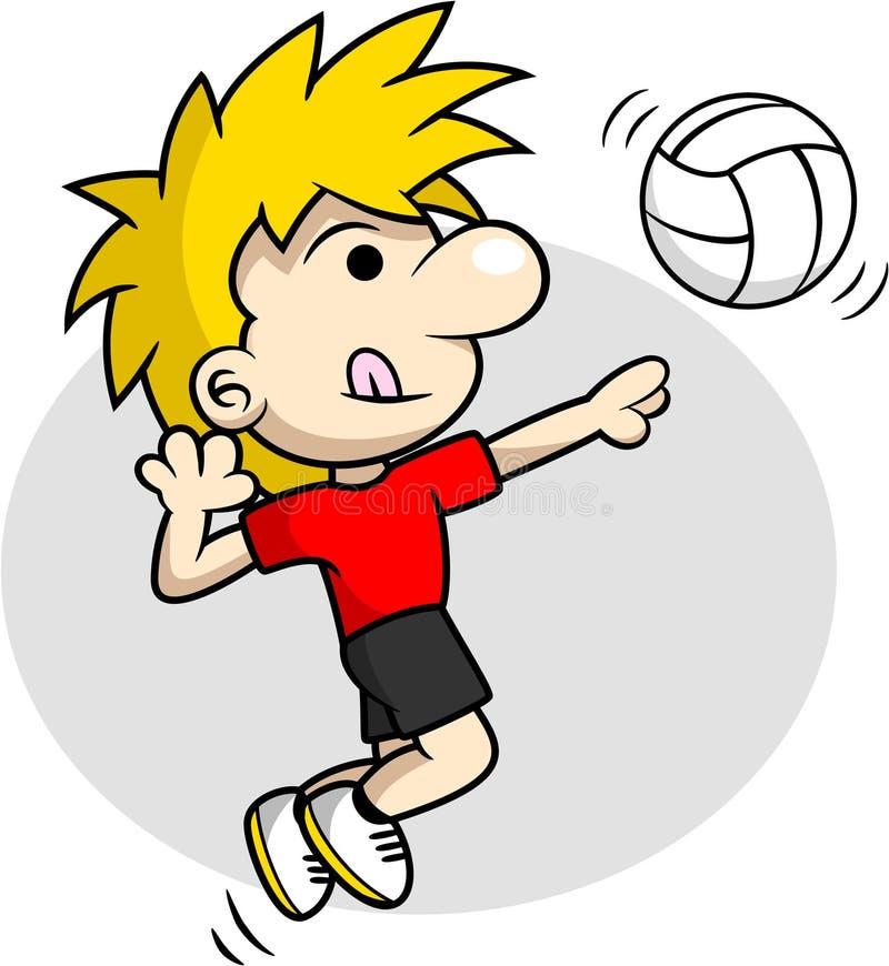 Volleybollpigg royaltyfri illustrationer