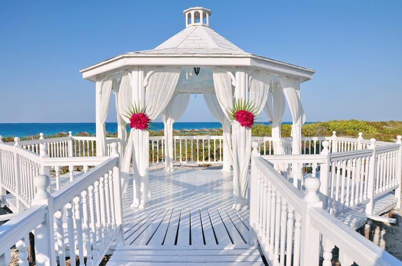 Vollkommener Hochzeits-Schauplatz stockbild