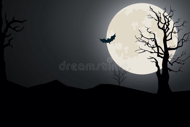 Vollmond auf Halloween lizenzfreie stockfotografie