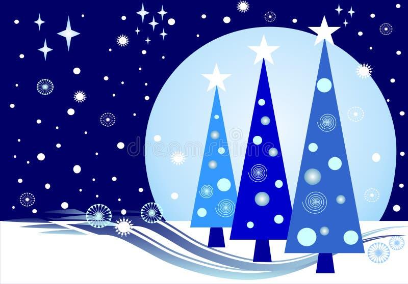 Vollmond Weihnachten stock abbildung