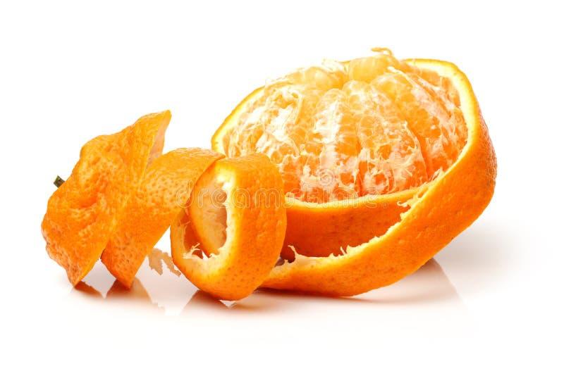 Vollständige und teilweise abgezogene Uglifrucht lizenzfreie stockfotos