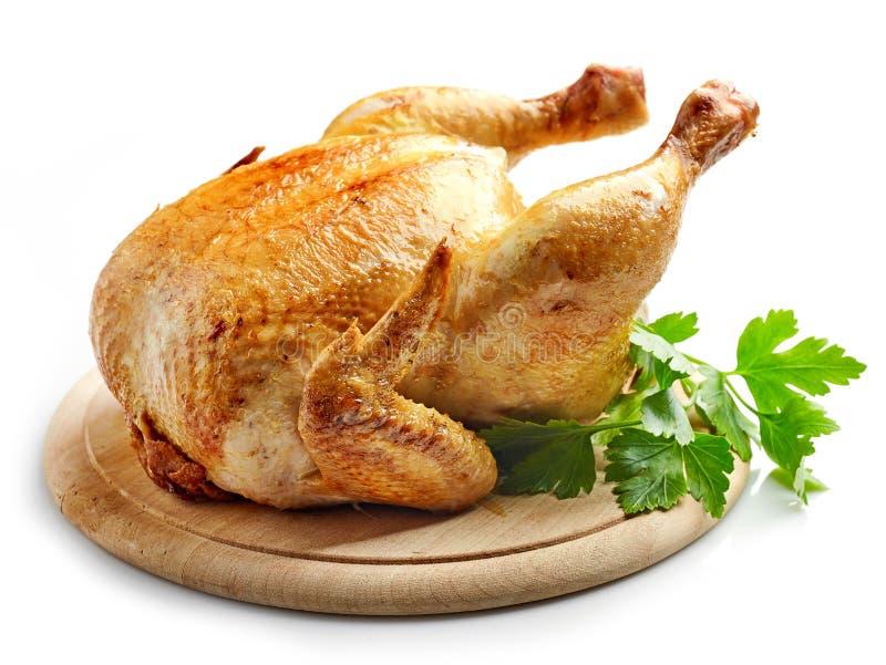 Vollständiges gebratenes Huhn lizenzfreies stockfoto