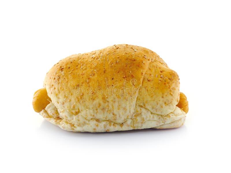 Vollweizen-Brot und Wurst. stockbilder