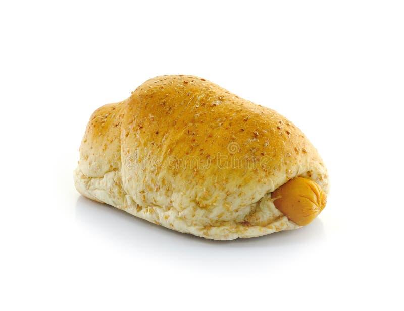 Vollweizen-Brot und Wurst. stockfoto
