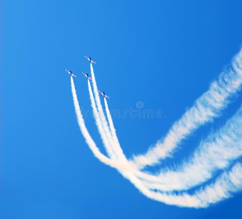 Volo acrobatico fotografia stock libera da diritti