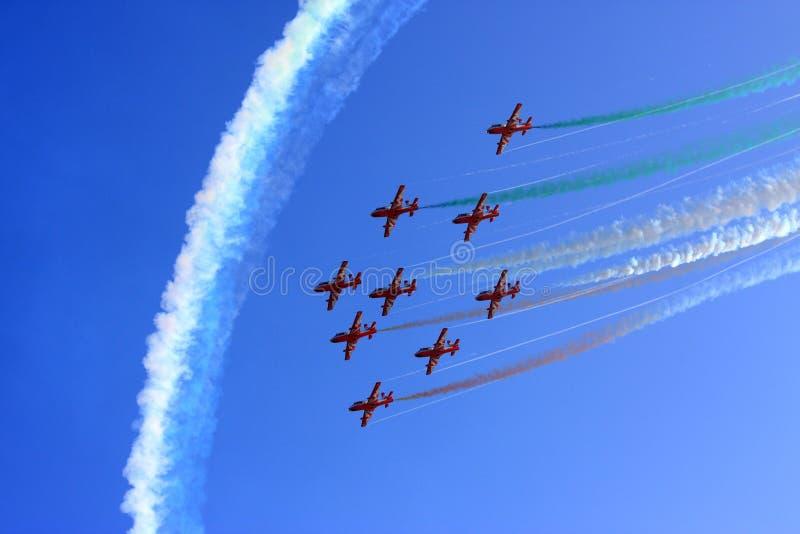 Volo Aerobatic immagini stock